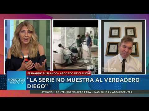 Fernando Burlando sobre las imágenes de la serie de Maradona: «Claudia esta bastante enojada»