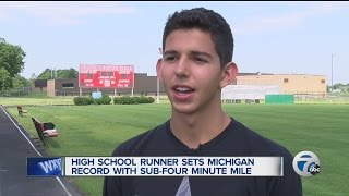 Justin Rose feature on HS track star Grant Fisher from Grand Blanc