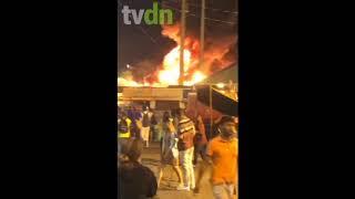 Incêndio atinge estrutura de festa de São João no Parque do Povo, em Campina Grande