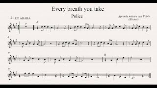 EVERY BREATH YOU TAKE:  Bb inst (clarinete, trompeta, saxo sop/tenor) (partitura/playback)