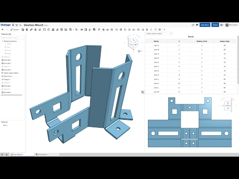 What's New in Onshape (February 13th, 2017) Simultaneous Sheet Metal