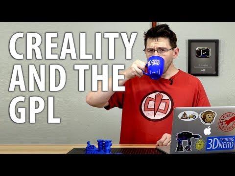 Creality 3D, the CR-10 3D Printer, and the GNU GPL Violation #GPLViolation