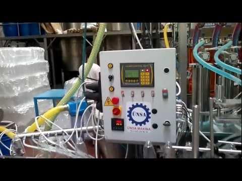 ünsa makina  deterjan köpüren ürünler şalgam suyu içecek camsil dolum dolum makinası