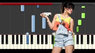Becky G Mayores Bad Bunny Piano Midi tutorial Sheet app Cover Karaoke