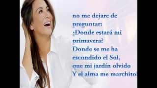 Myriam Hernandez - Donde estara mi primavera (LETRA)