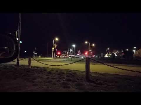 Trein spotten in de nacht bij station Beesd