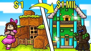 Minecraft: 1 DOLLAR HOUSE VS 1,000,000 DOLLAR HOUSE!!! Crafting Mini-Game