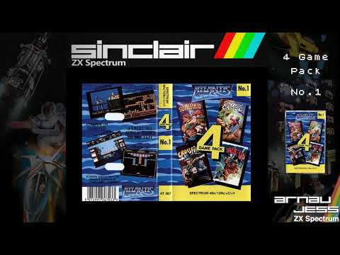 4 Game Pack No.1 by Atlantis -Zx Spectrum-