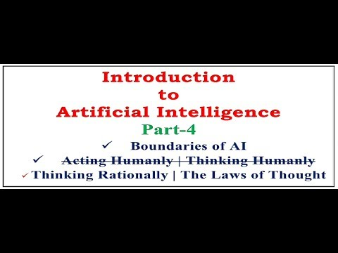 Artificial Intelligence|Boundaries of AI|Thinking Rationally