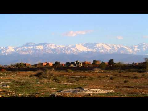 High Atlas covered by Snow viewed from Marrakech
