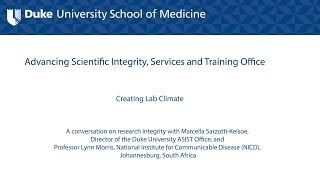 Promoting Research Integrity in the Academic Laboratory Setting: Creating Lab Climate