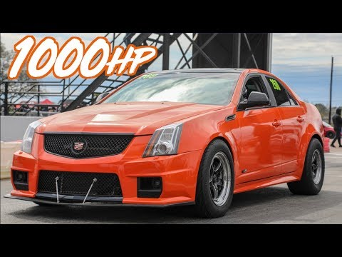 Felicia's 1000HP Cadillac CTSV Wheelies and Street Racing!