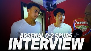 HEUNG-MIN SON & DELE ALLI ON ARSENAL WIN | INTERVIEW | Arsenal 0-2 Spurs