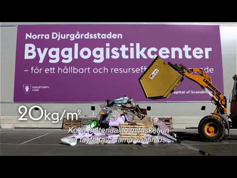 Stockholm Royal Seaport Building Logistics Centre (English version with Finnish subtitles)