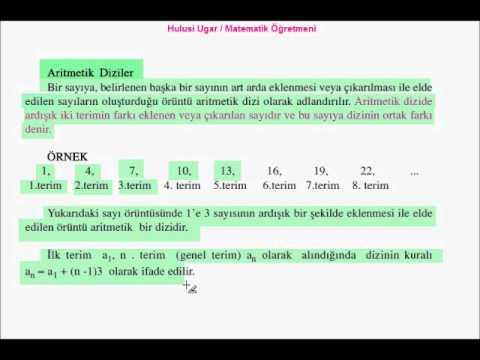 8.Sınıf Matematik / Sayı Örüntüleri / Video Ders / Hulusi Ugar / Mat. Öğtr.