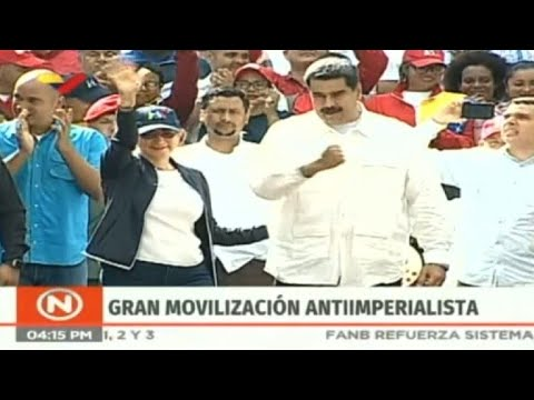 Venezuela's Maduro arrives for anti-imperialist rally