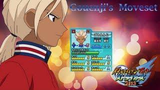 Gouenji's Moveset In Inazuma Eleven go Strikers 2013