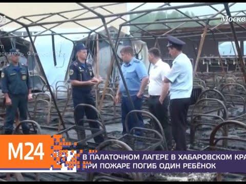 СК возбудил два уголовных дела после пожара в лагере под Хабаровском - Москва 24