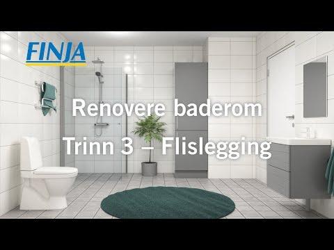Renovere baderom - Trinn 3 - Flislegging