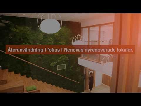 Återanvändning i fokus i Renovas nyrenoverade huvudkontor