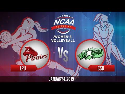 NCAA 94 Women's Volleyball: LPU vs. CSB   January 4, 2019