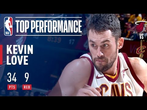 Kevin Love HEAT CHECK TIME 22 POINTS in 1st Quarter | 34 Pts 9 Reb vs the Heat