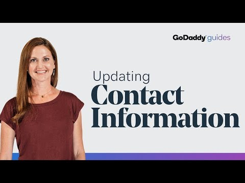 Updating Contact Information for Your GoDaddy Domain