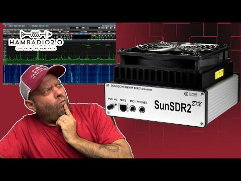 SunSDR2 DX HF Ham Radio Transceiver Setup and Demo