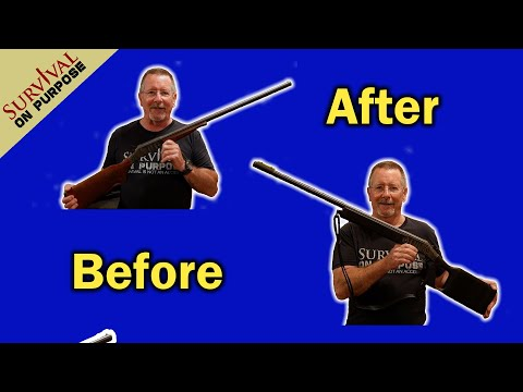 How To Build A Survival Shotgun From a $100 Single Shot 12 Gauge