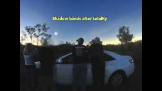 Shadow bands during the total solar eclipse of November 14, 2012
