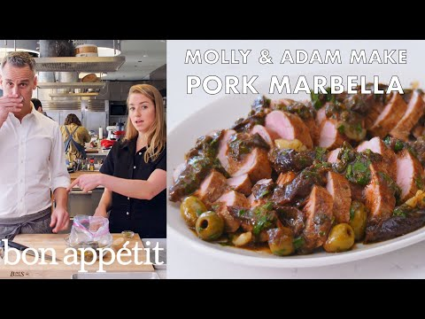 Molly And Adam Make Pork Marbella From The Test Kitchen