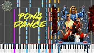 The Pong Dance - Vigiland (Synthesia/Piano Tutorial/Karaoke) REMASTERED VERSION with LYRICS