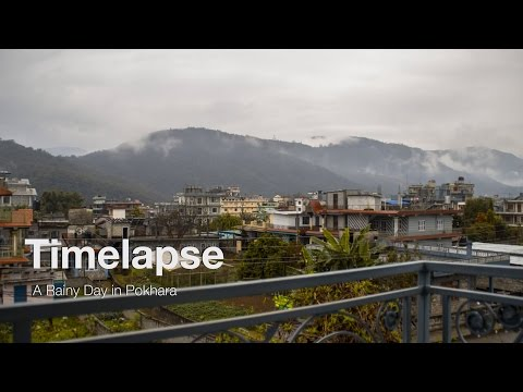 Timelapse – mountains in Pokhara, Nepal