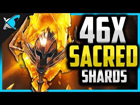 46X SACRED SHARDS !!... HOW MANY LEGENDARIES !? | 2x Sacred Event ! | RAID: Shadow Legends