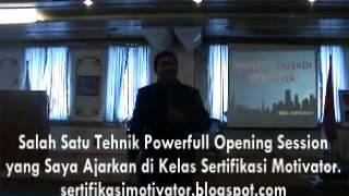 Tips Ice Breaking Pembukaan Presentasi Seminar Motivasi