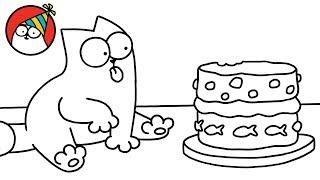 Purrthday Cake (A 10th Birthday Special) - Simon's Cat | BLACK & WHITE