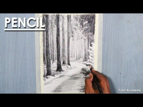 Road through the Forest- Pencil Drawing | step by step