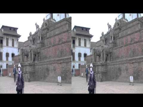 ネパール旅行ーバクタプル Bhakutapur Nepal (3D-stereo)