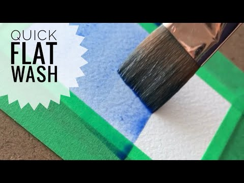How To Paint a Solid Flat Wash with Watercolour #shorts