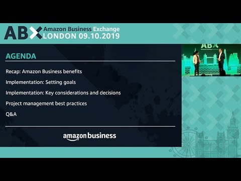amazon.co.uk & Amazon Voucher Codes video: ABX - Session 6 - Implement a marketplace in thirty days or less