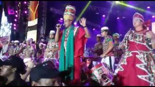 Nação do maracatu Porto Rico no Marco Zero. Carnaval 2017. Darrum- grito de guerra