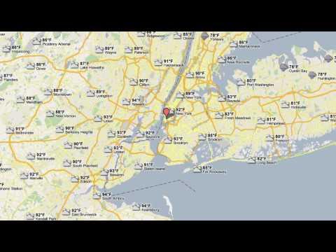 حالة الطقس على خرائط Google