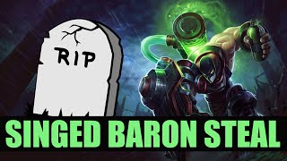 Singed doesn't care that he is dead, he's gonna take your baron! Enemy vs Apex - week 2 of NACS!