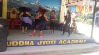 Stress Relief Therapy through Zumba post earthquake