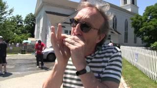 "John Birdsall Little Walter's ""Just Your Fool"" on harmonica at the car wash in Bridgehampton"