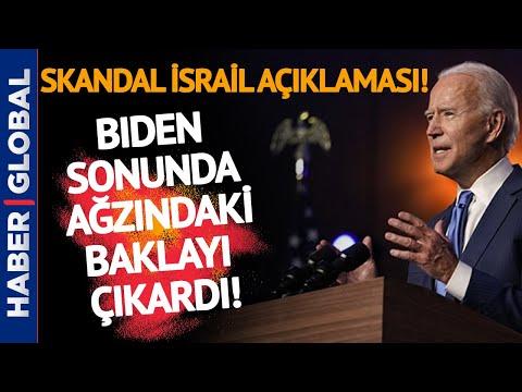 Dayanamadı Açıkladı! Biden'dan Skandal İsrail Açıklaması!