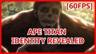 Ape titan identity revealed - Attack on Titan season 2 episode 12 FINALE SCENE