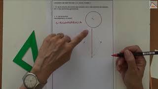 Imagen en miniatura para Lugares geométricos en el plano: circunferencia, mediatriz, bisectriz