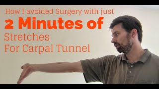 Wrist Exercises for Tendinitis Carpal Tunnel Syndrome - Avoid RSI injury in just 2 minutes a day!