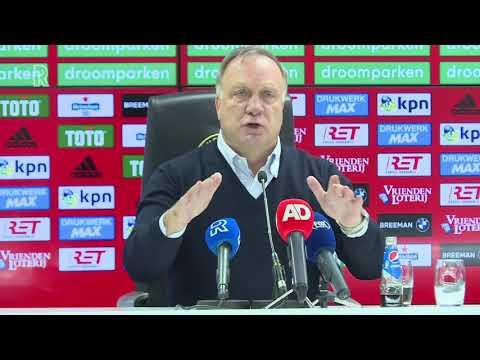 Dick Advocaat over Feyenoord-ADO: 'Punten belangrijk, compliment aan onze supporters'